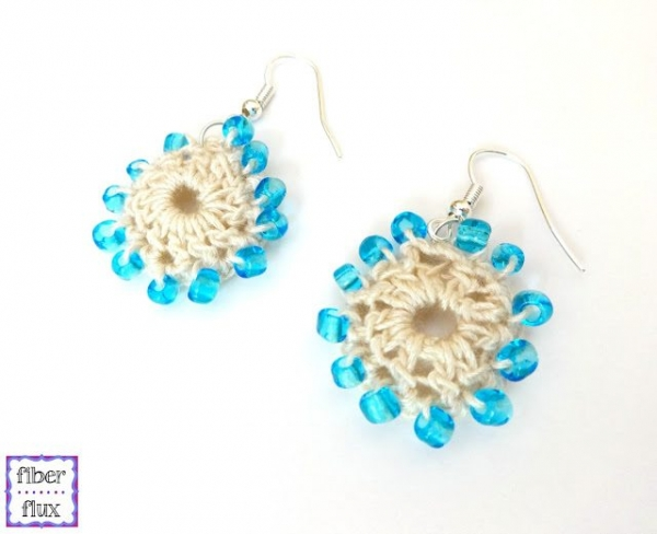 crochet beaded earrings free pattern
