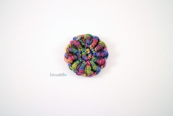 crochet bullion stitch flower