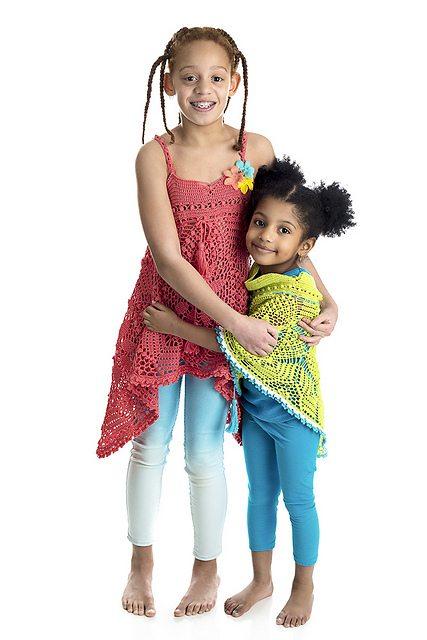 crochet dress and poncho