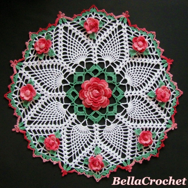 crochet flower doily free pattern