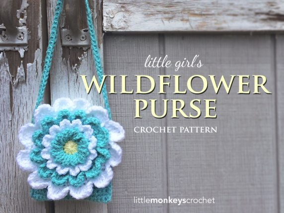 crochet flower purse free pattern