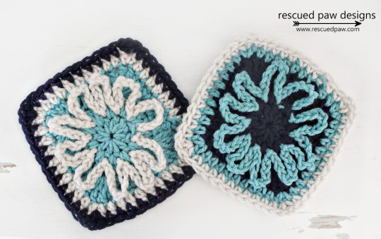crochet flower square pattern