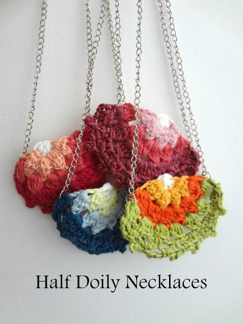 crochet half doily
