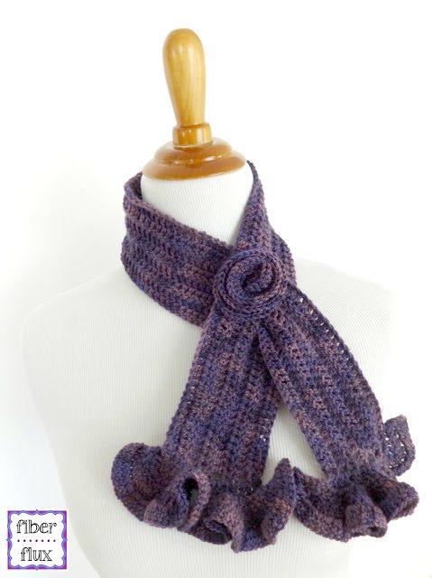crochet keyhole scarf free pattern