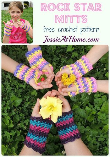 crochet mitts free pattern