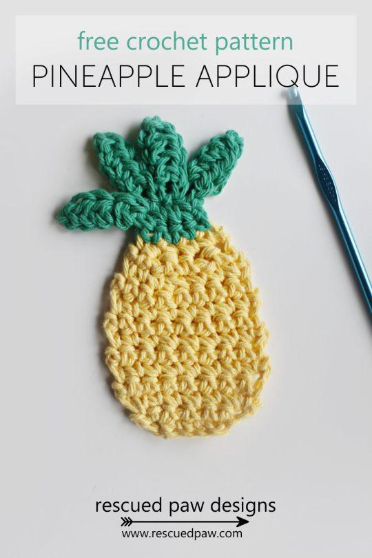 crochet pineapple applique free pattern