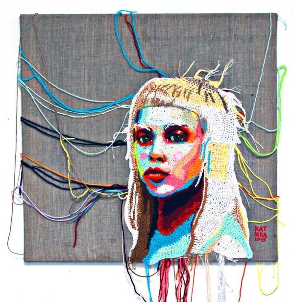 crochet portrait art