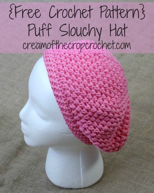 crochet puff hat