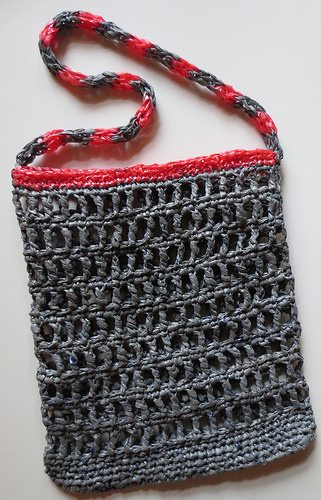 crochet recycled bag pattern