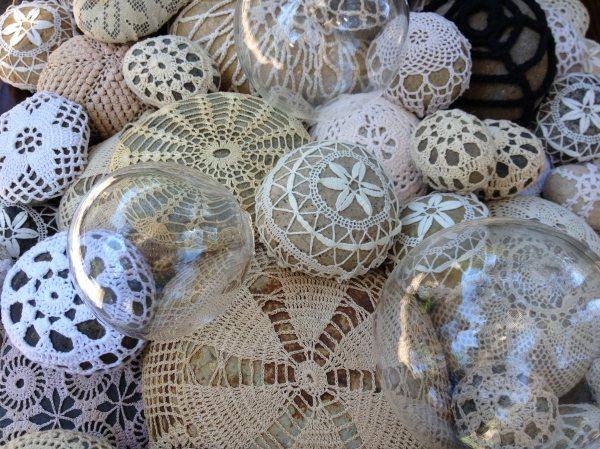 crochet river rocks