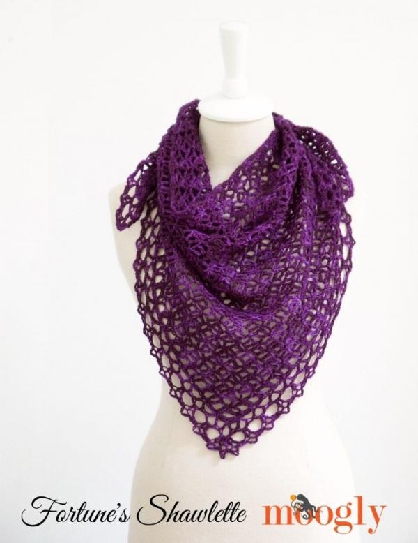 Haak shawlette patroon