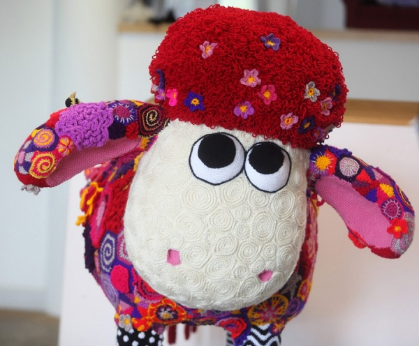 crochet sheep art