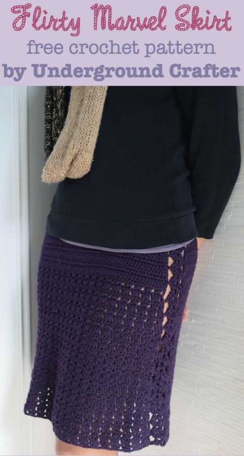 crochet skirt free pattern