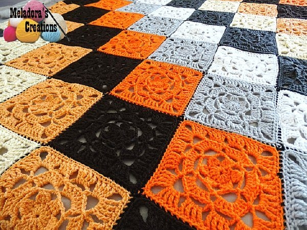 crochet square blanket free pattern