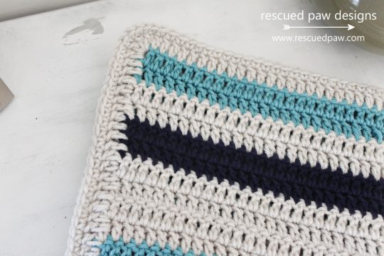 crochet striped blanket pattern