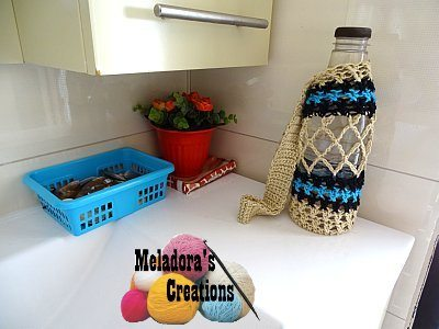 crochet water bottle cozy