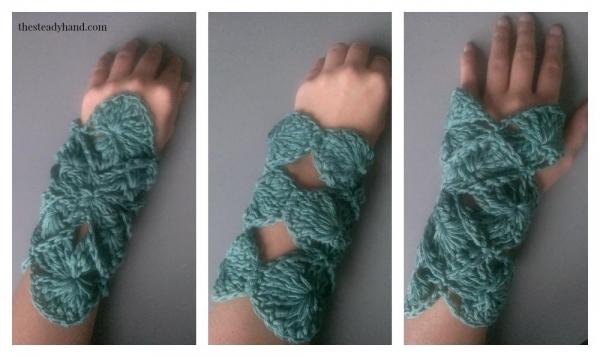 crochet wristwarmers pattern
