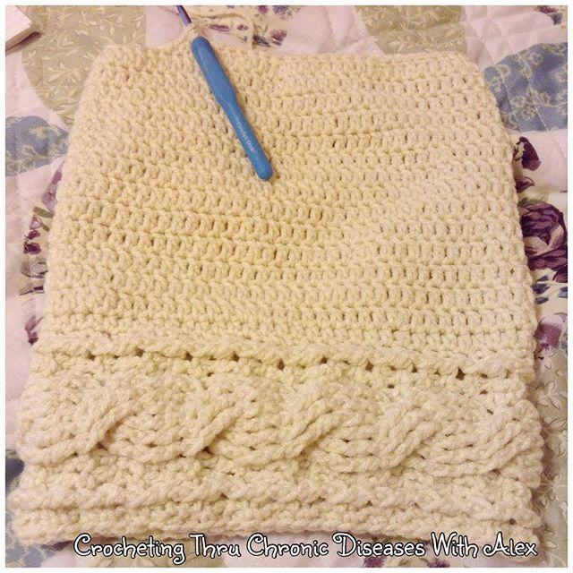 crochetingthruchronicdiseases crochet cable hat