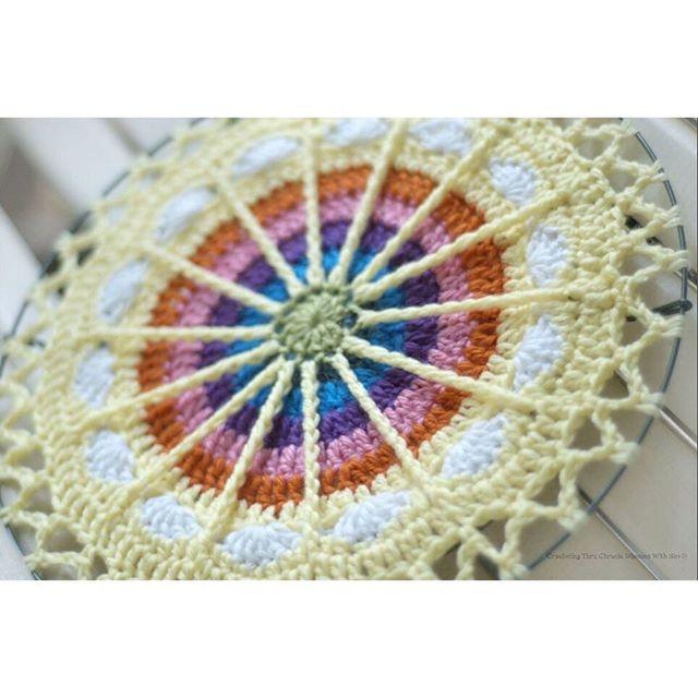 crochetingthruchronicdiseases crochet mandala