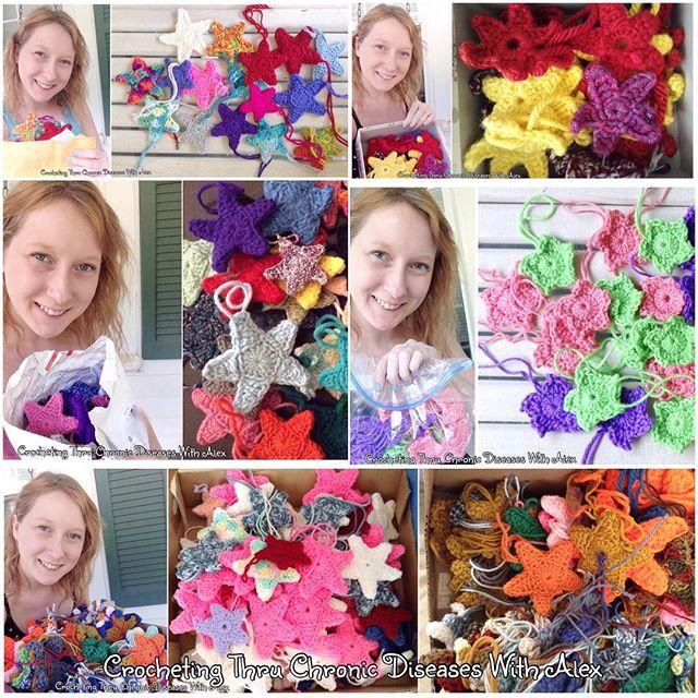 crochetingthruchronicdiseases kaylas crochet stars