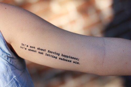 depression tattoo