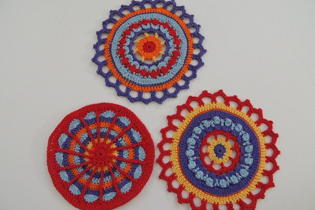 thread crochet mandalas