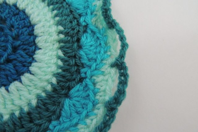 blue crochet mandala