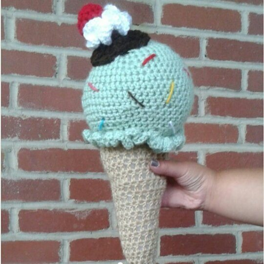 edibleish_crochet crochet ice cream