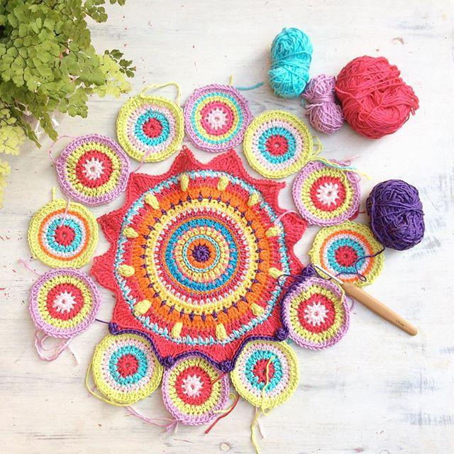 emmaleithatelier crochet mandala joining