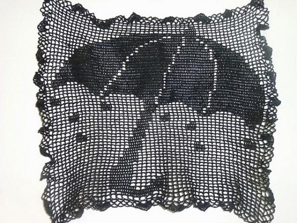 filet crochet umbrella