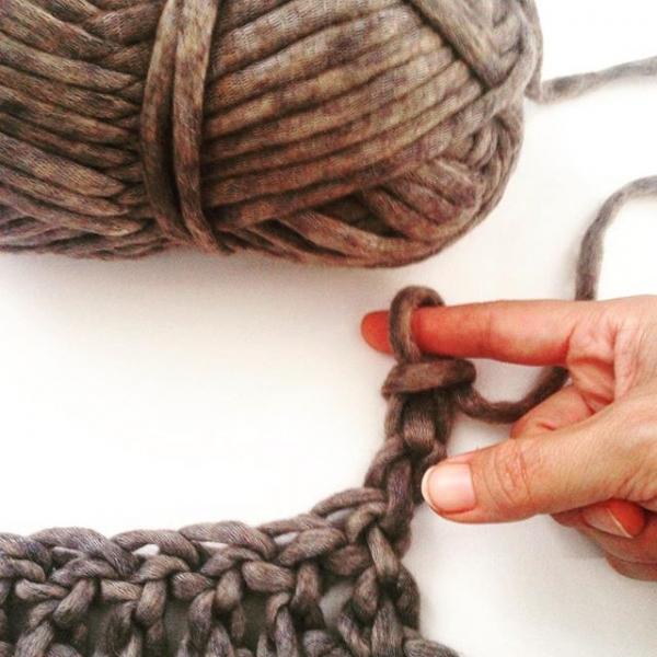 finger crochet tutorial