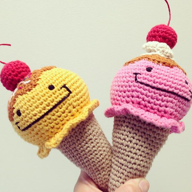 flamingpot crochet ice cream