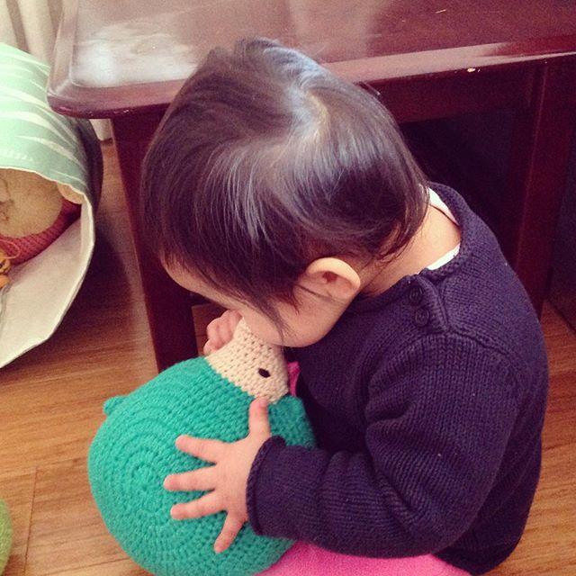 flamingpot crochet toy
