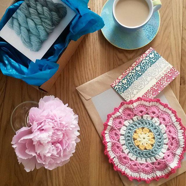 frankielovescrochet crochet mandala