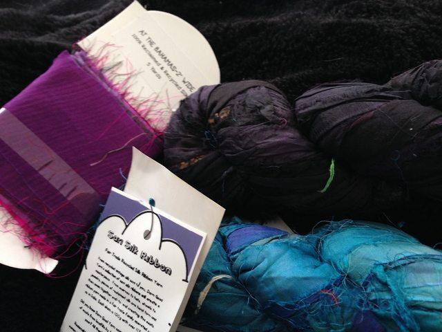 darn good yarn recycled sari silk