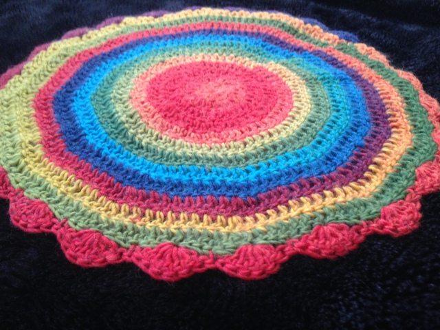 rainbow crochet mandalasformarinke