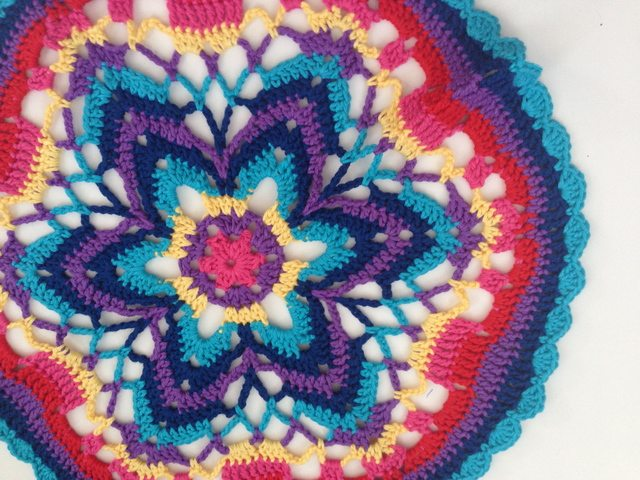 Vicki's Crochet Contribution to Mandalas for Marinke