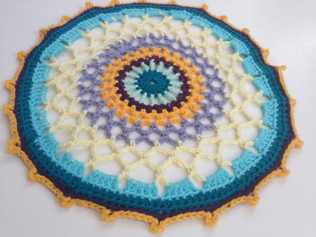 Katy's Crochet Contribution to Mandalas for Marinke