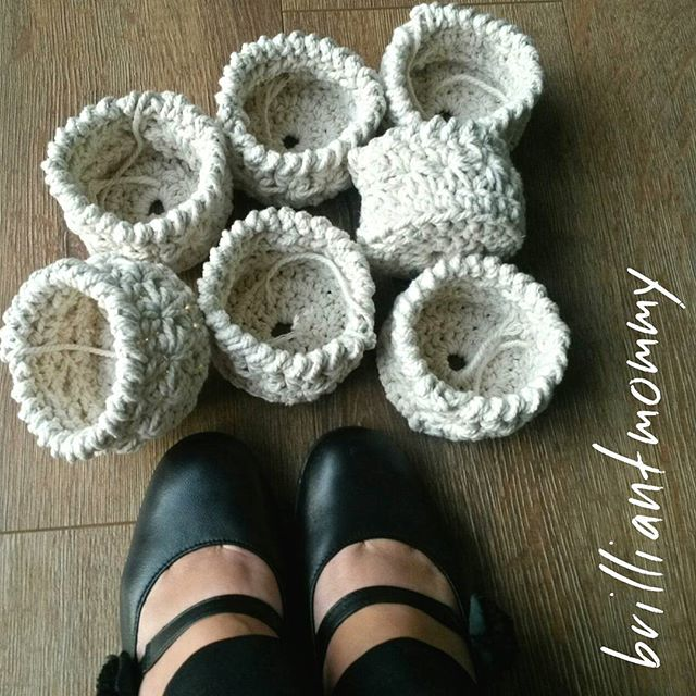 jysoulikmamma_brilliantmommy crochet cotton baskets