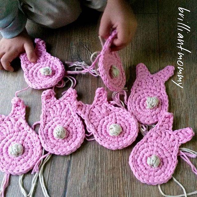 jysoulikmamma_brilliantmommy crochet cotton bunny washcloths