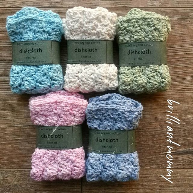 jysoulikmamma_brilliantmommy crochet cotton dishcloths