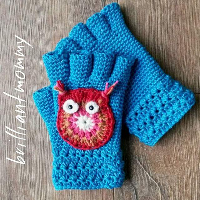jysoulikmamma_brilliantmommy crochet owl mitts