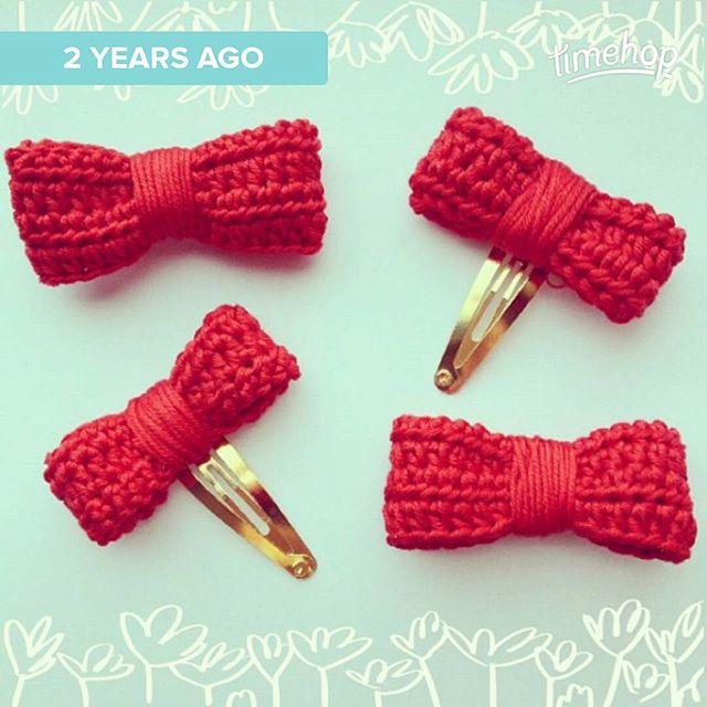 kellyandcrochet crochet bows