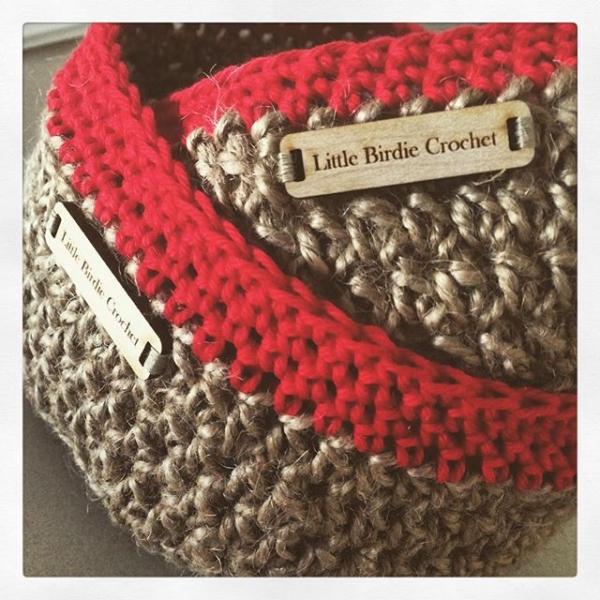 littlebirdiecrochet jute crochet baskets