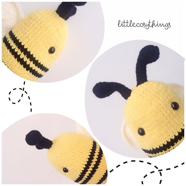 littlecosythings crochet bumblebee