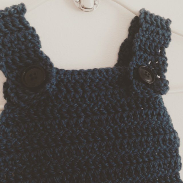 lou.teacrochet crochet dungarees