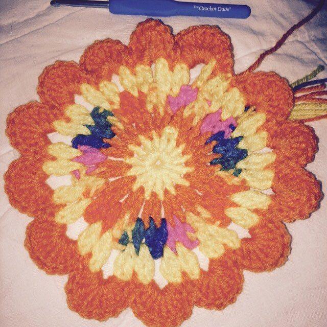 maddylopez324 crochet mandala