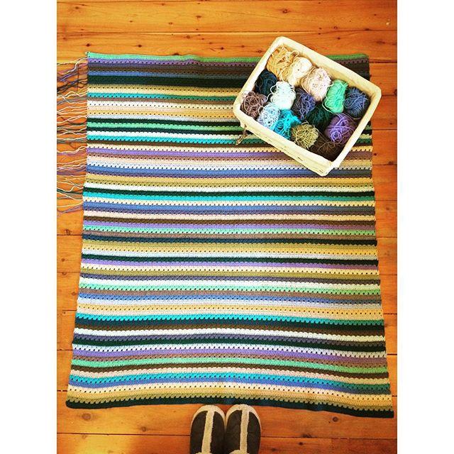 margaretev crochet striped blanket