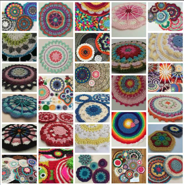 november crochet mandalas