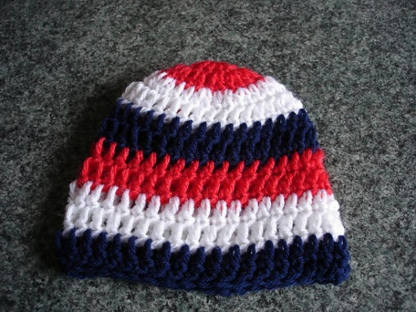 red white blue crochet hat pattern
